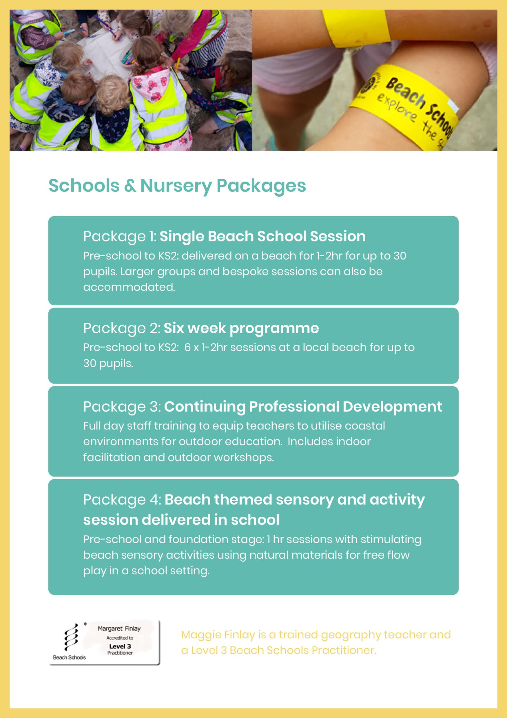 Schools Packages | Beach Schools NI